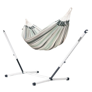 Double Hammock olive with Nautico powder coated steel stand