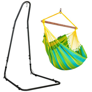 Hammock Chair green with powder coated steel stand