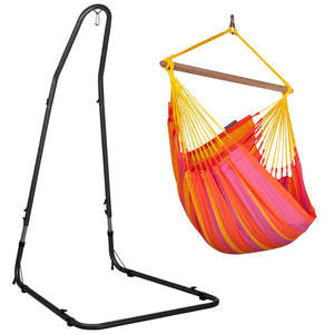 Hammock Chair orange with powder coated steel stand
