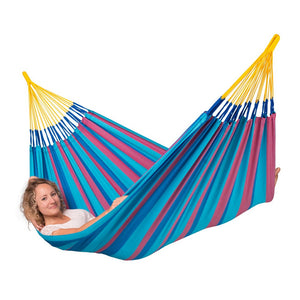 La Siesta Single Classic Hammock Blue and Purple