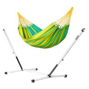 Single Classic Hammock green with Nautico powder coated steel stand