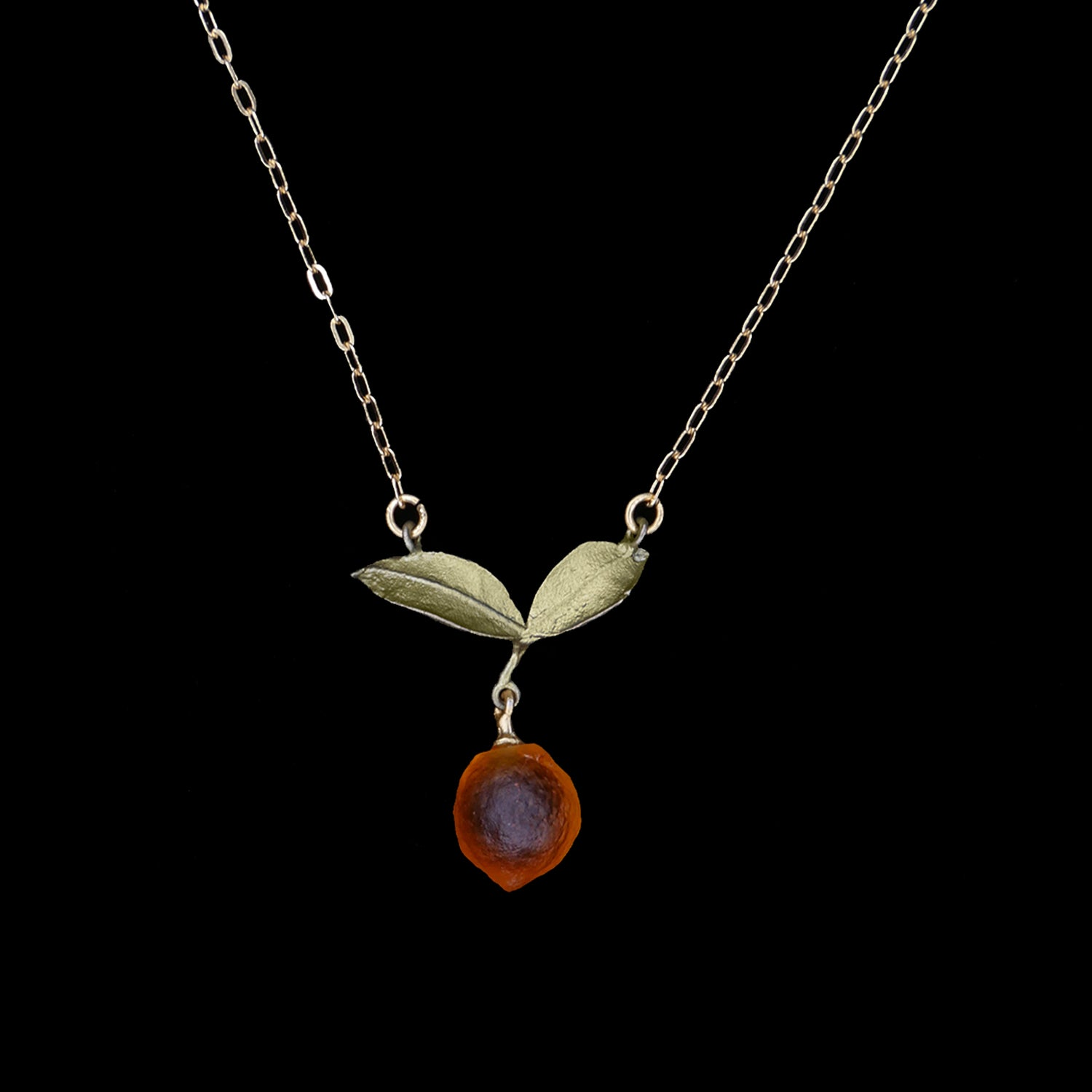 Orange Pendant - Dainty Drop
