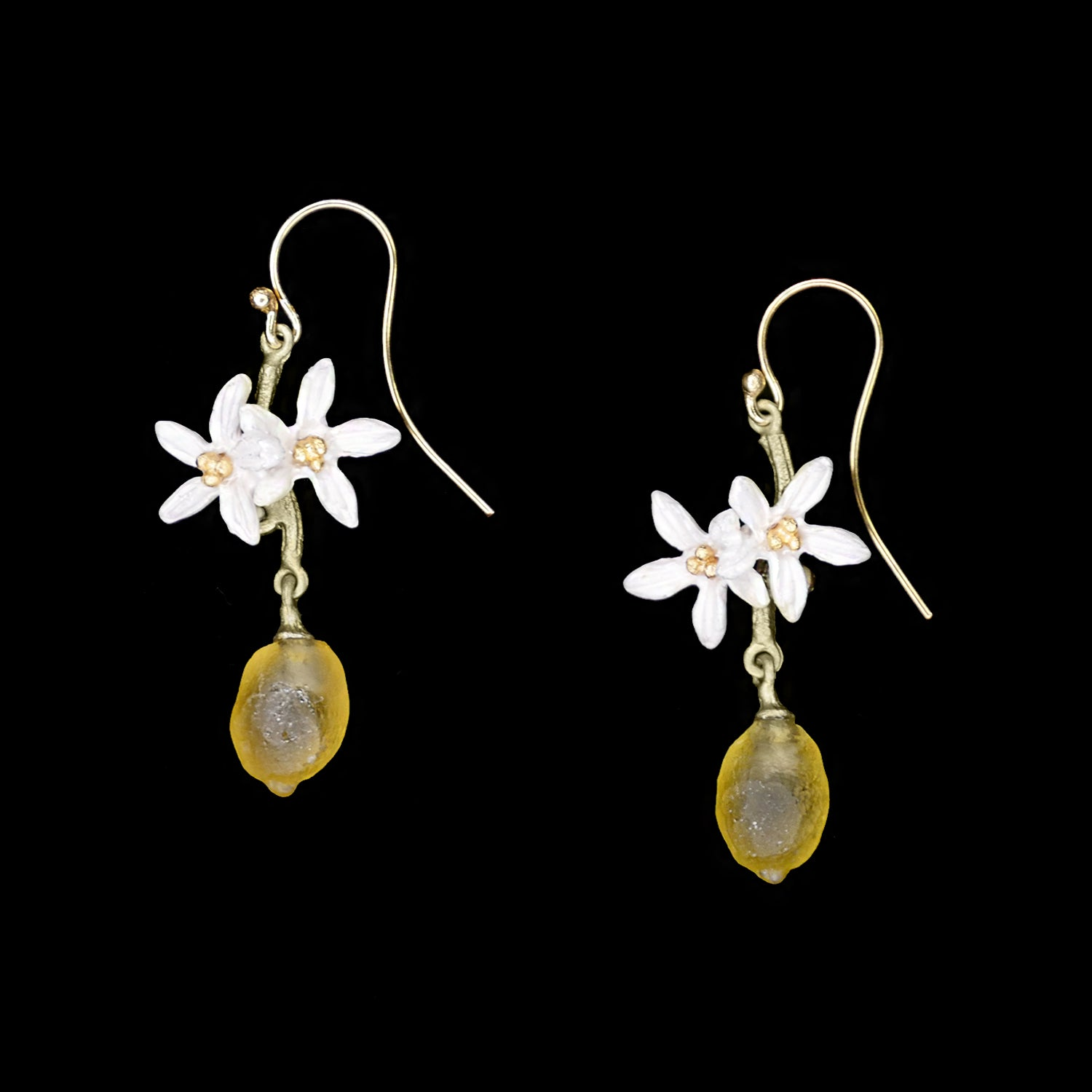 Lemon Drop Earrings - Flower Wire