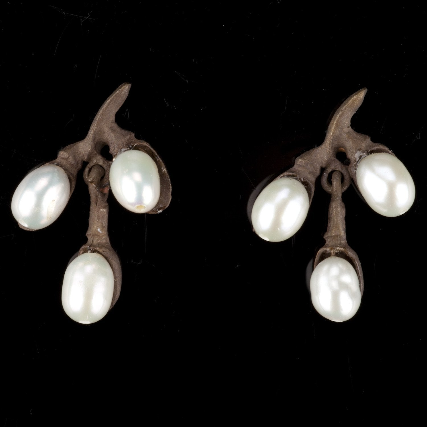 Pussy Willow Earrings - Three Branch
