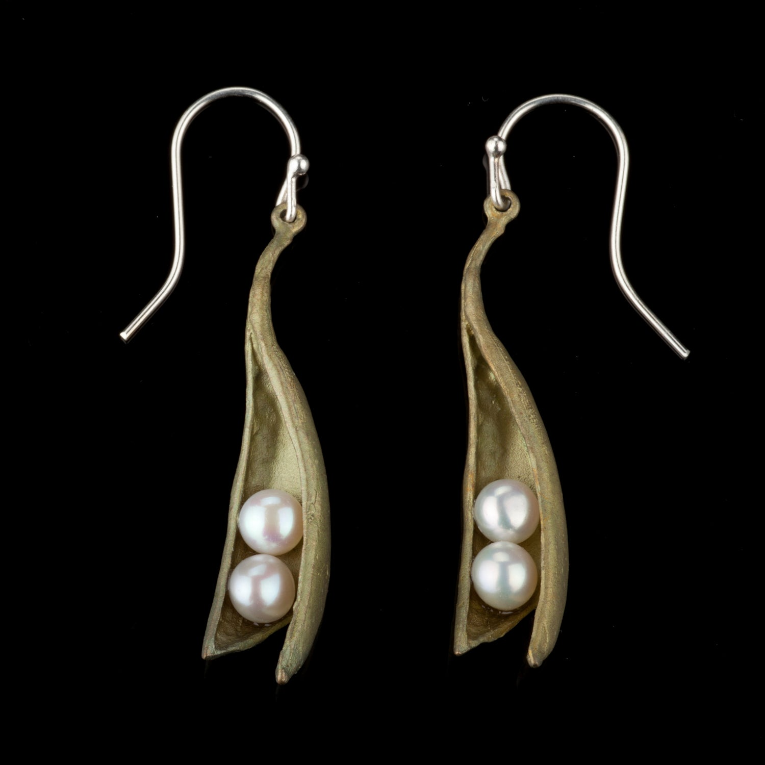 Pea Pod Earrings - Drop