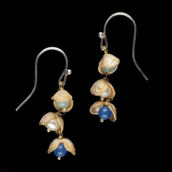 Itty Bitty Shells Earrings - Wire Drop