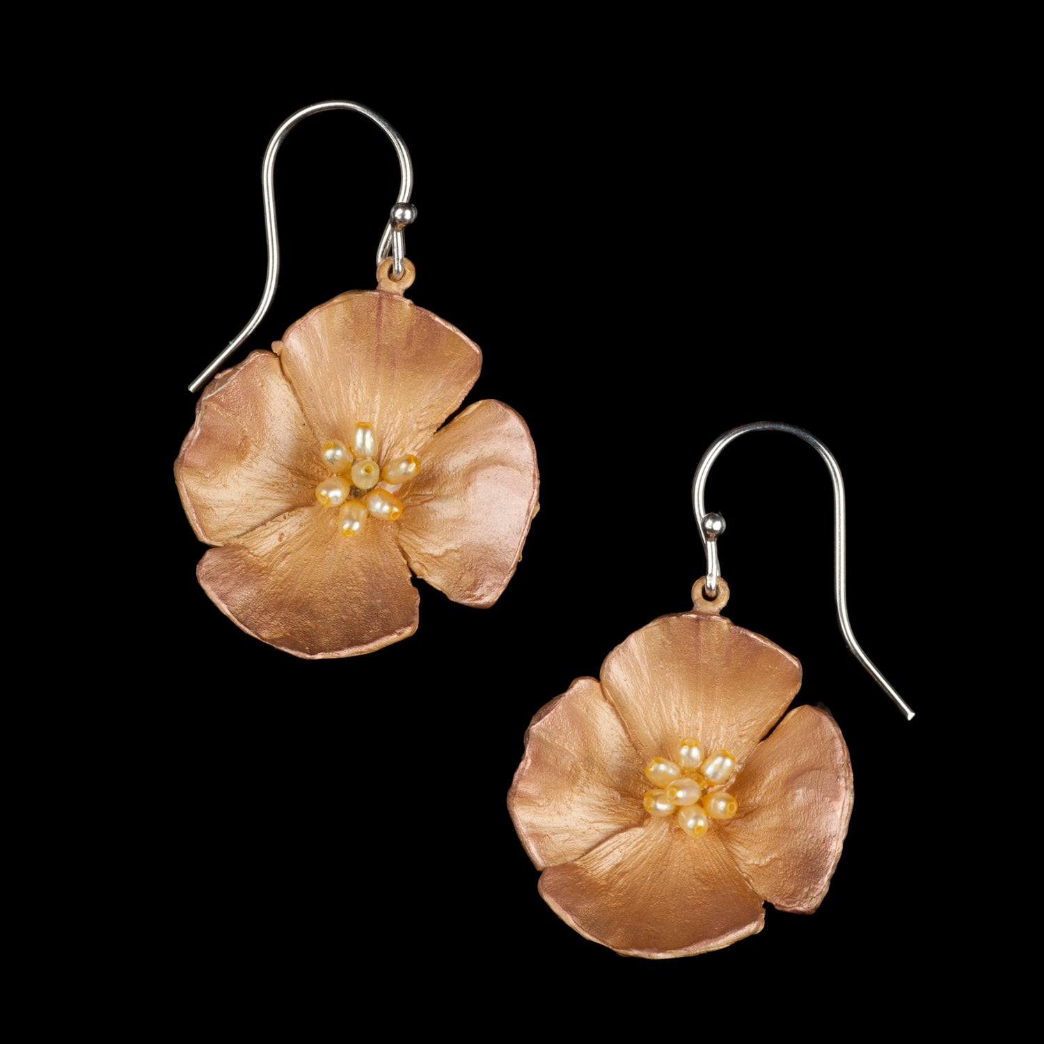 California Poppy Earrings - Large Flower