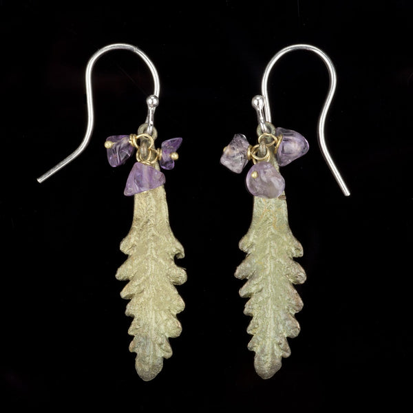 French Lavender Earrings - Amethyst Wire