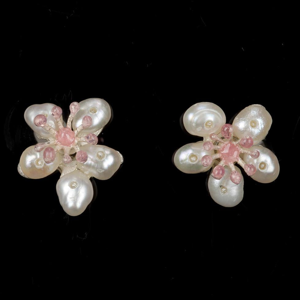 Cherry Blossom Earrings - Petite Post