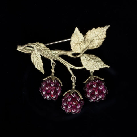 Raspberry Brooch
