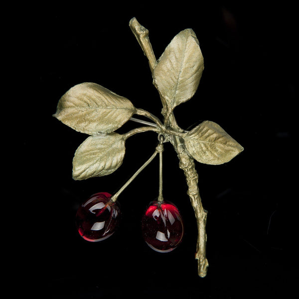 Morello Cherry Brooch