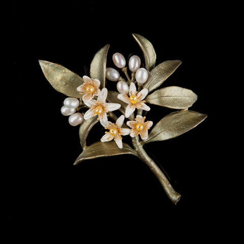 Orange Blossom Brooch