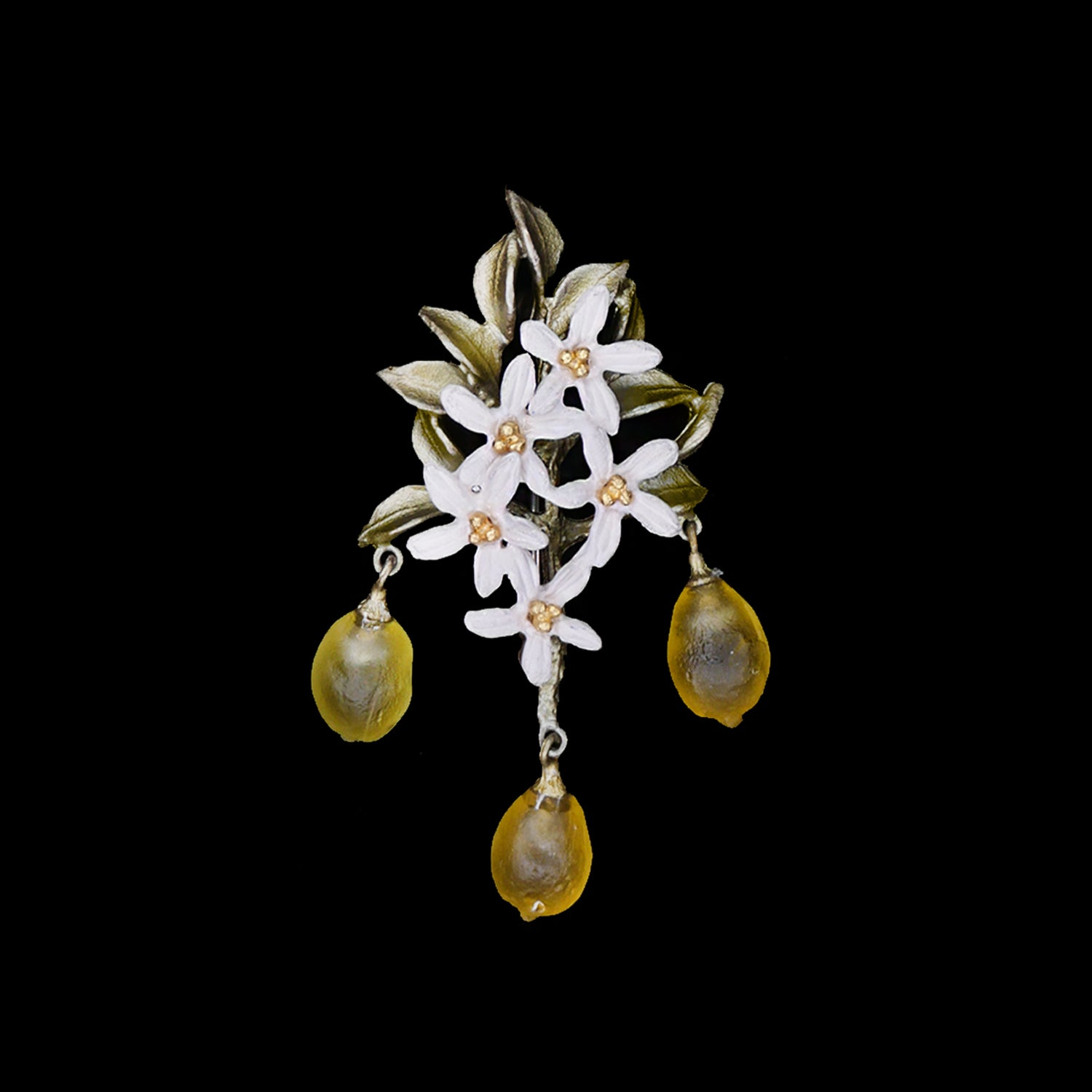 Lemon Drop Pendant Brooch