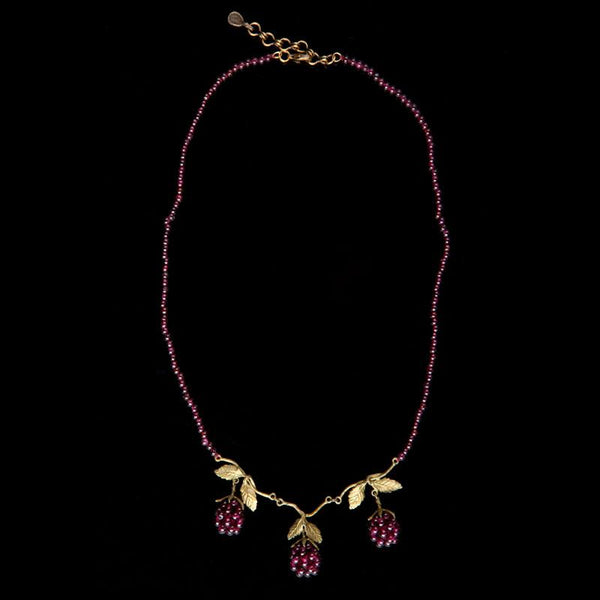 Raspberry Beaded Necklace