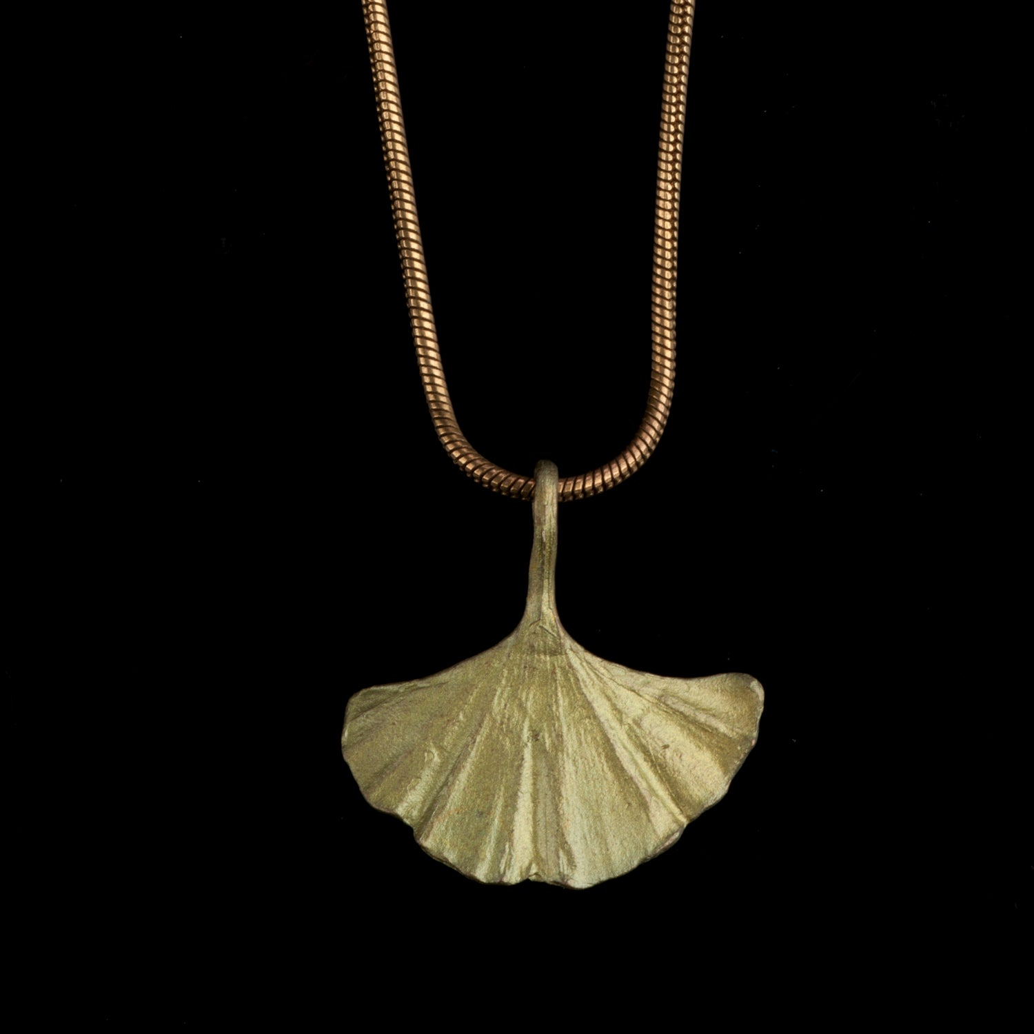 Ginkgo Pendant - Single Leaf