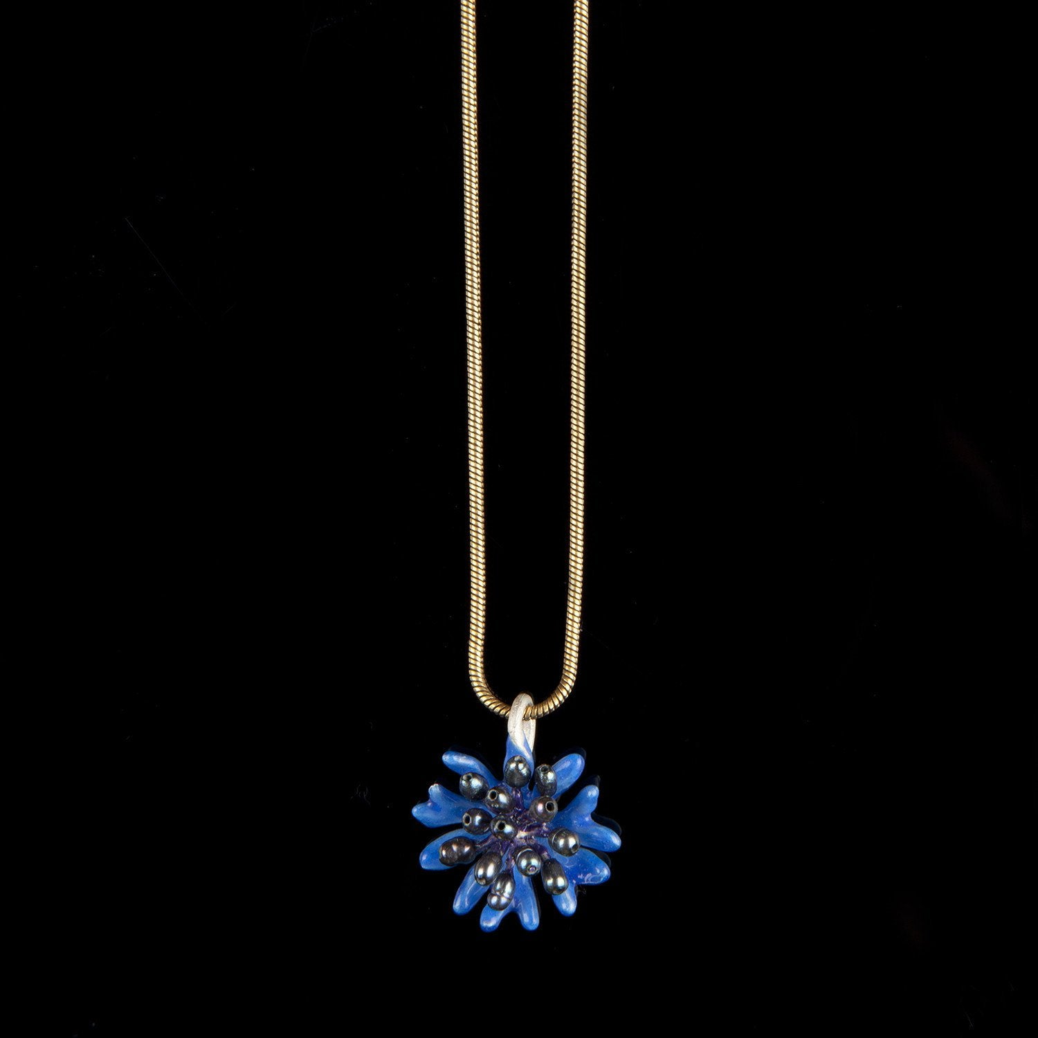 Blue Cornflower Pendant