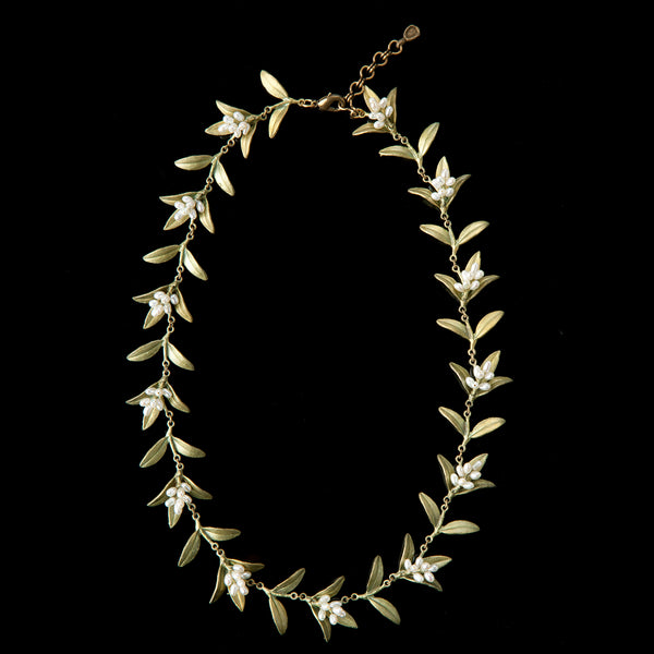 Flowering Myrtle Necklace - All Leaves