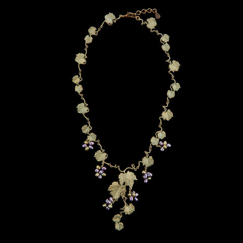 Grape Vines Necklace - Leaf Links
