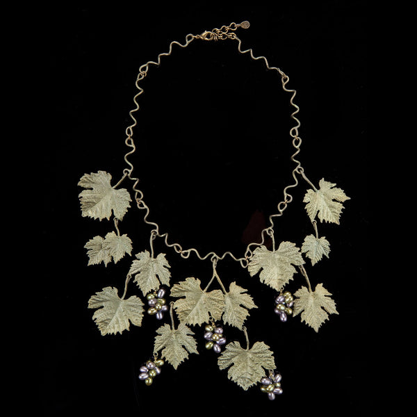 Grape Vines Necklace - Large Leaves