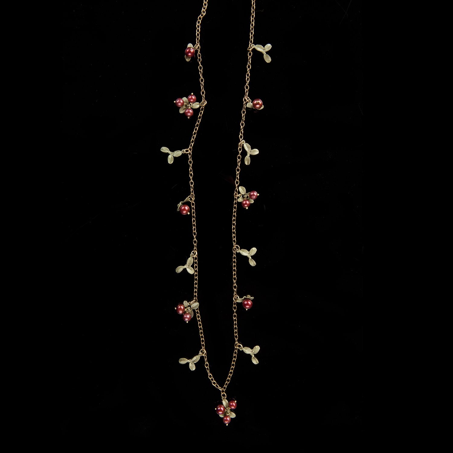 Cranberry Long Necklace