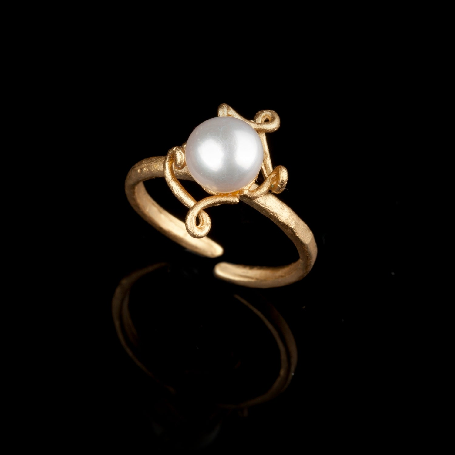 Pea Pod Single Pearl - Ring
