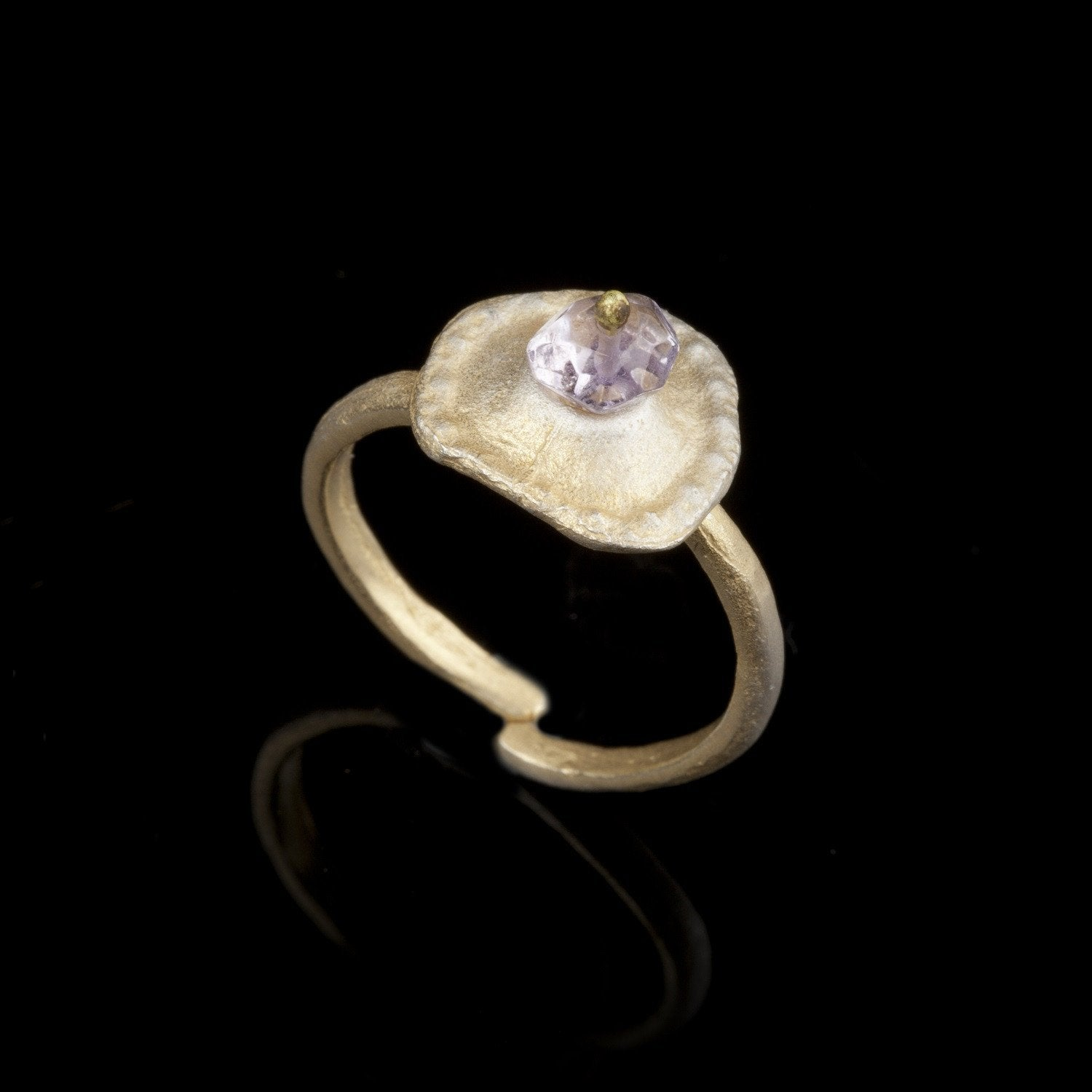 Sea Urchin Single Ring - Amethyst