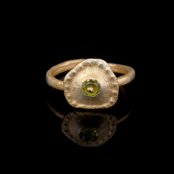 Sea Urchin Single Ring - Peridot
