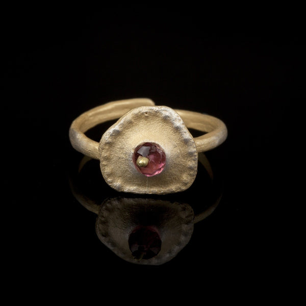 Sea Urchin Single Ring - Pink Tourmaline