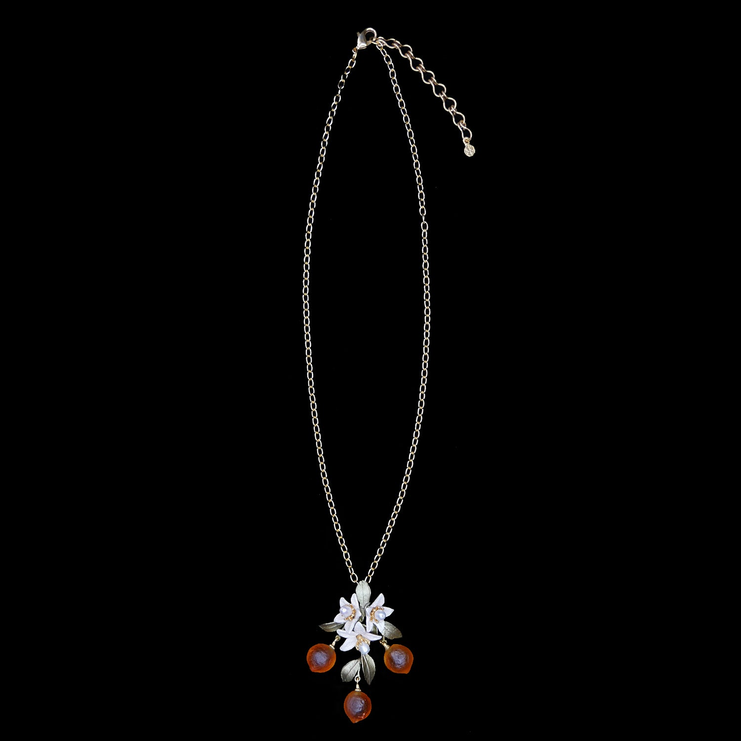 Orange Pendant - Flower Drop