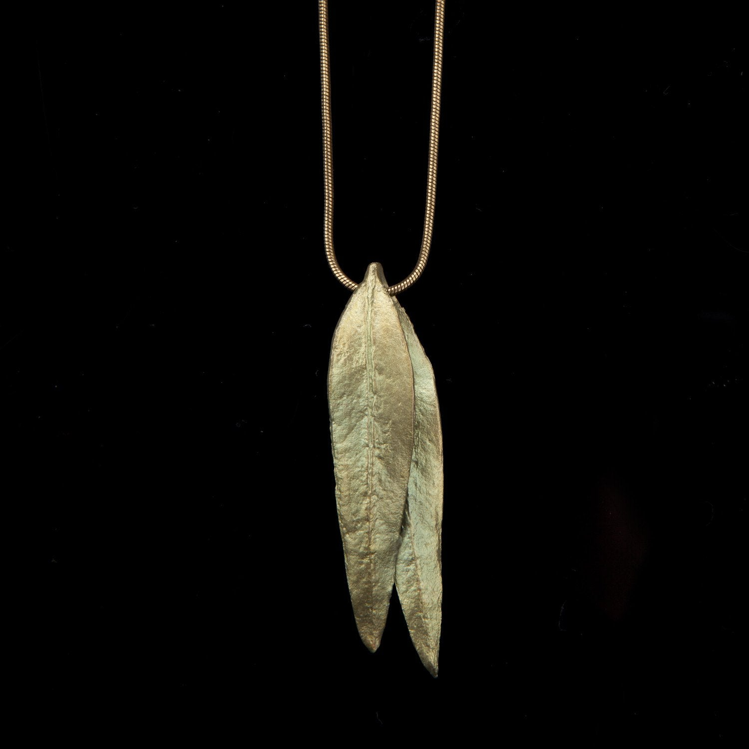 Eucalyptus Long Double Leaf Pendant