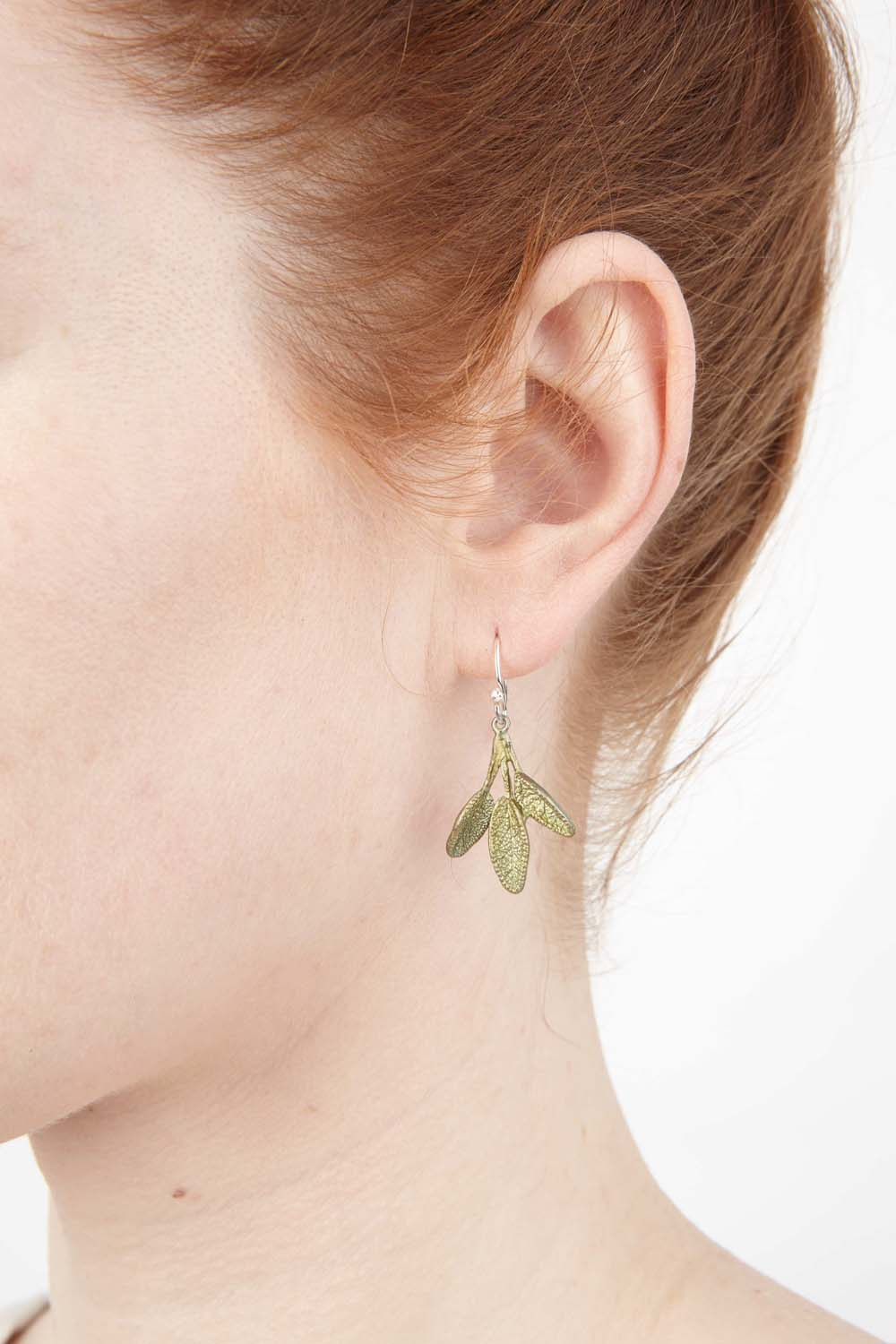 Petite Herb - Sage Wire Earring