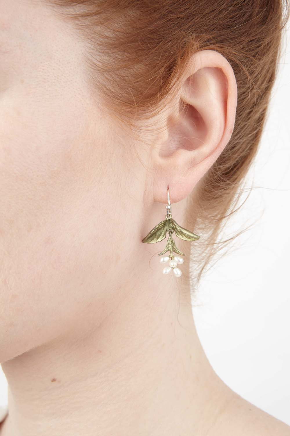 Sweet Basil Earrings - Wire Drop