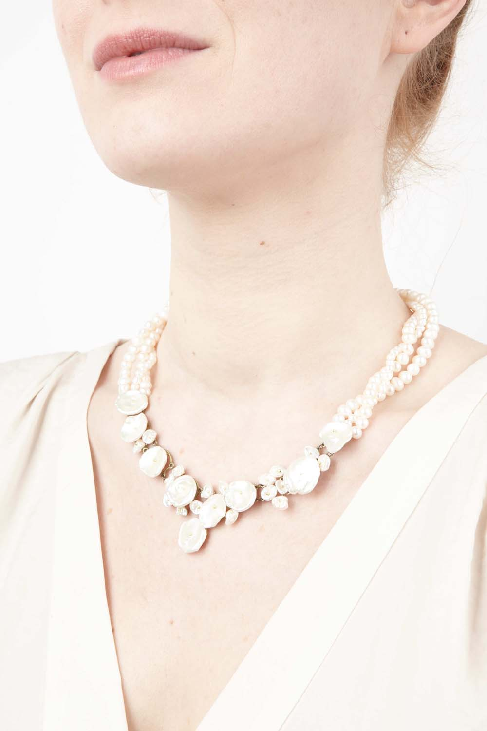 Silver Dollar Necklace - Pearl Twist