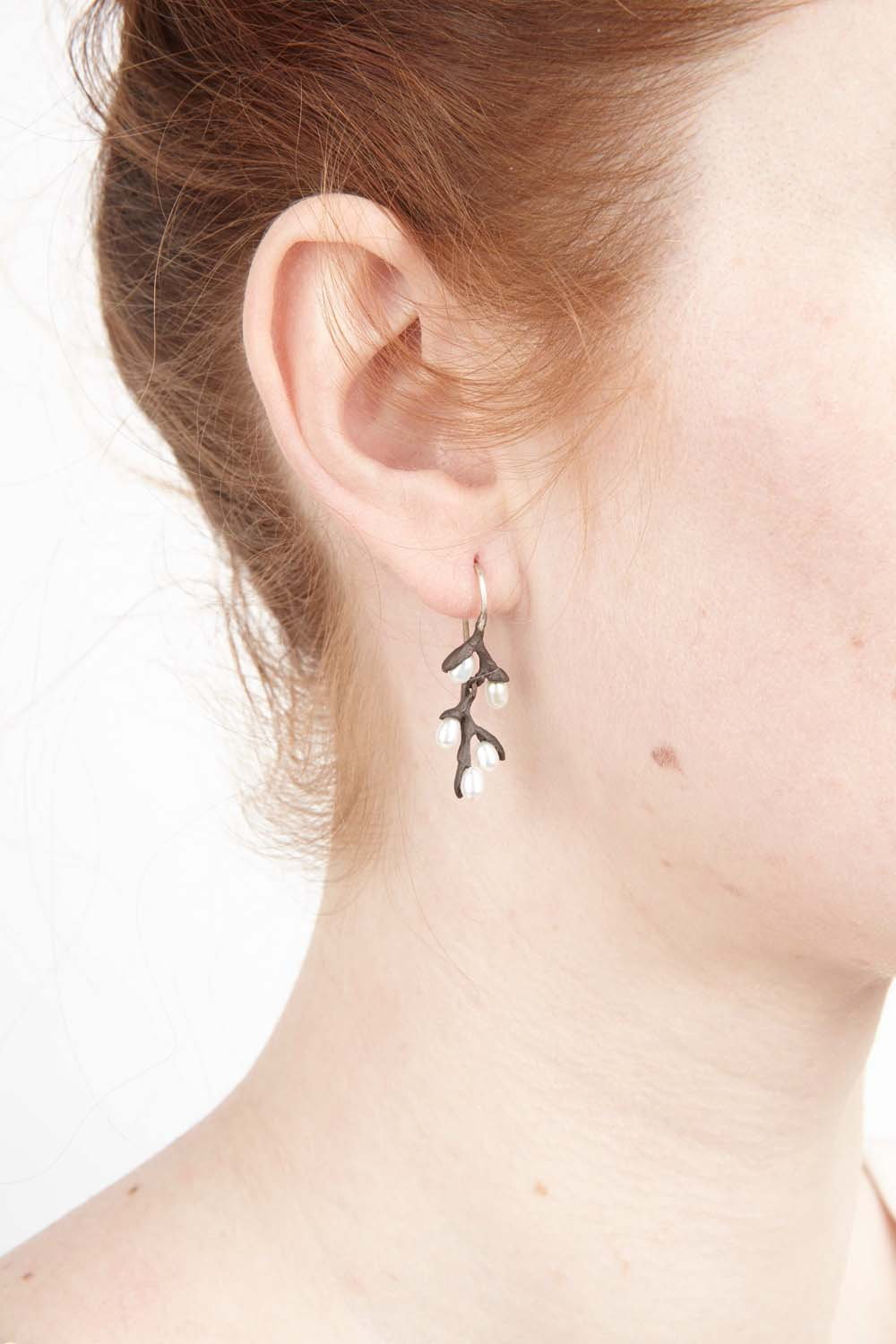 Pussy Willow Earrings - Wire Drop