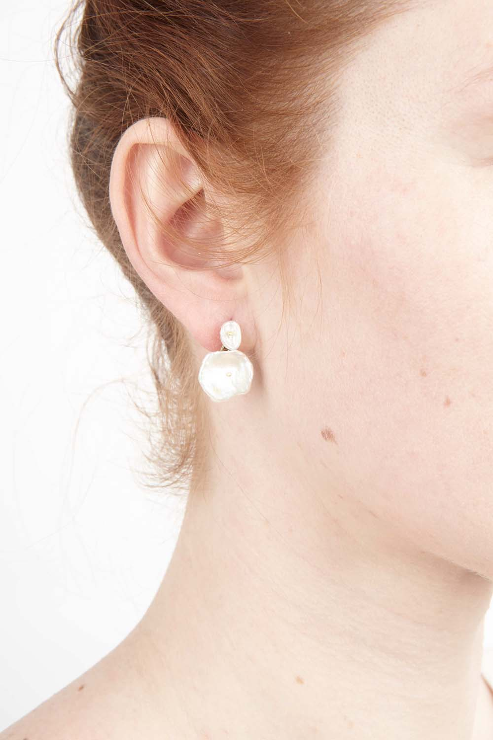 Silver Dollar Earrings - Post