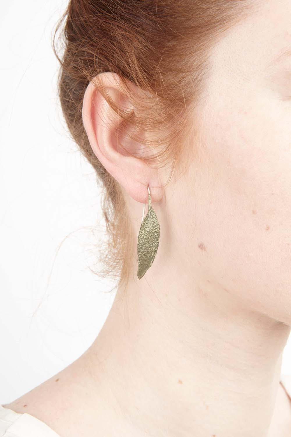 Sage Earrings - Leaf