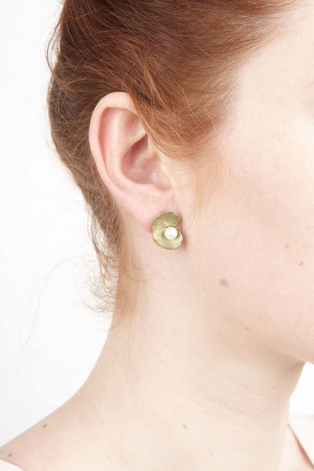 Spiral Geranium Earrings