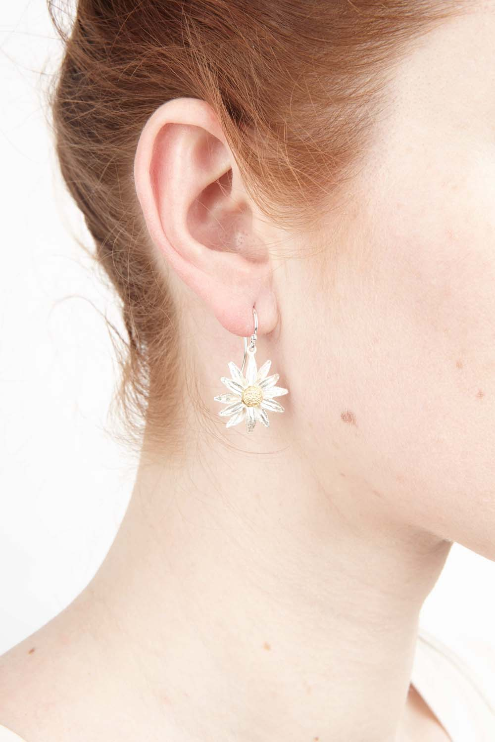 Daisy Earrings - Wire Drop