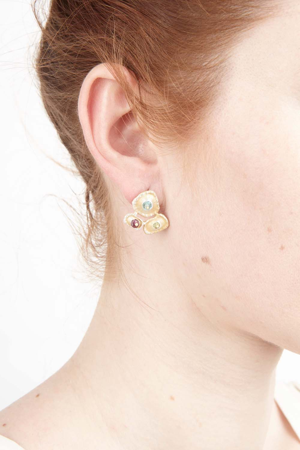 Sea Urchin Earrings - Post Cluster