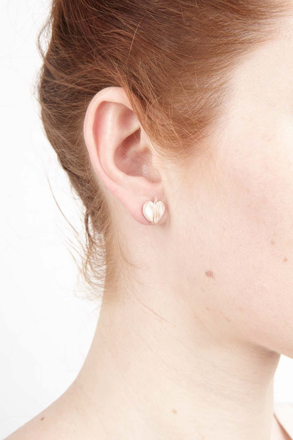 Bleeding Heart Earrings - Petite Post