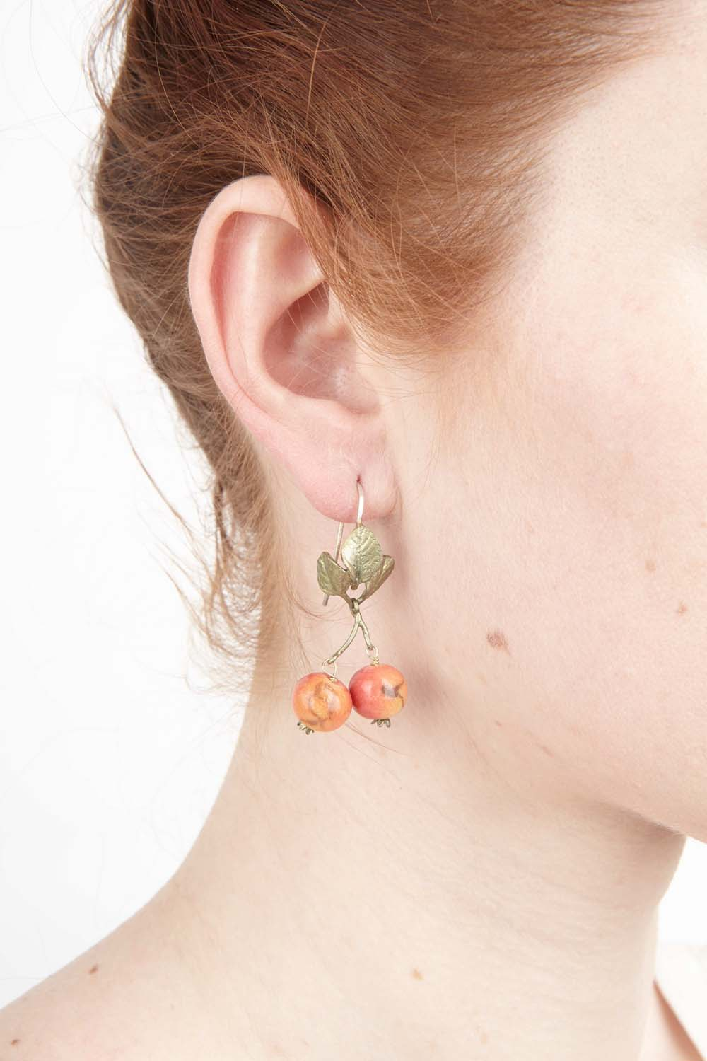 Crab Apple Earring - Wire Drop