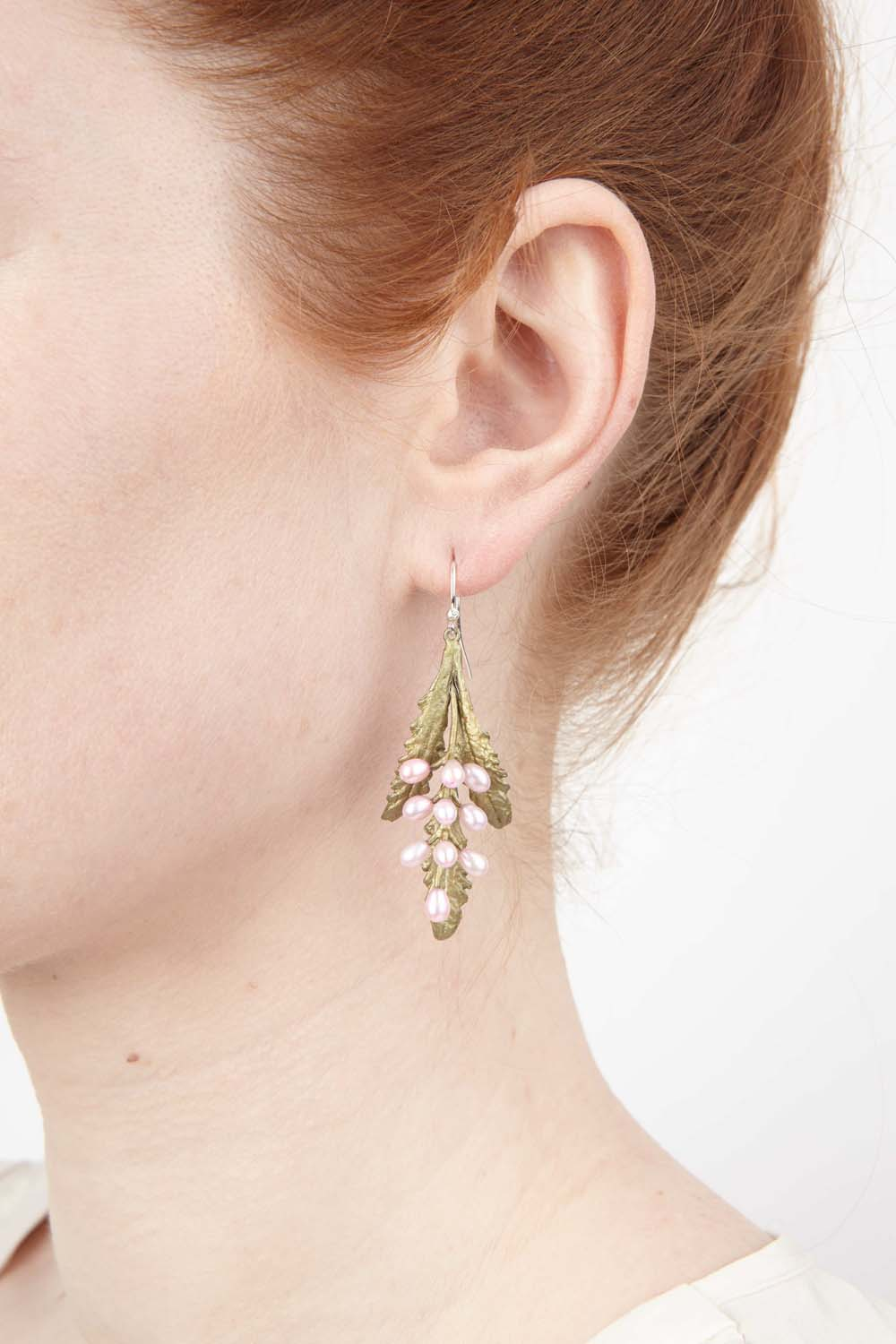 French Lavender Earring - Sprig Wire Drop