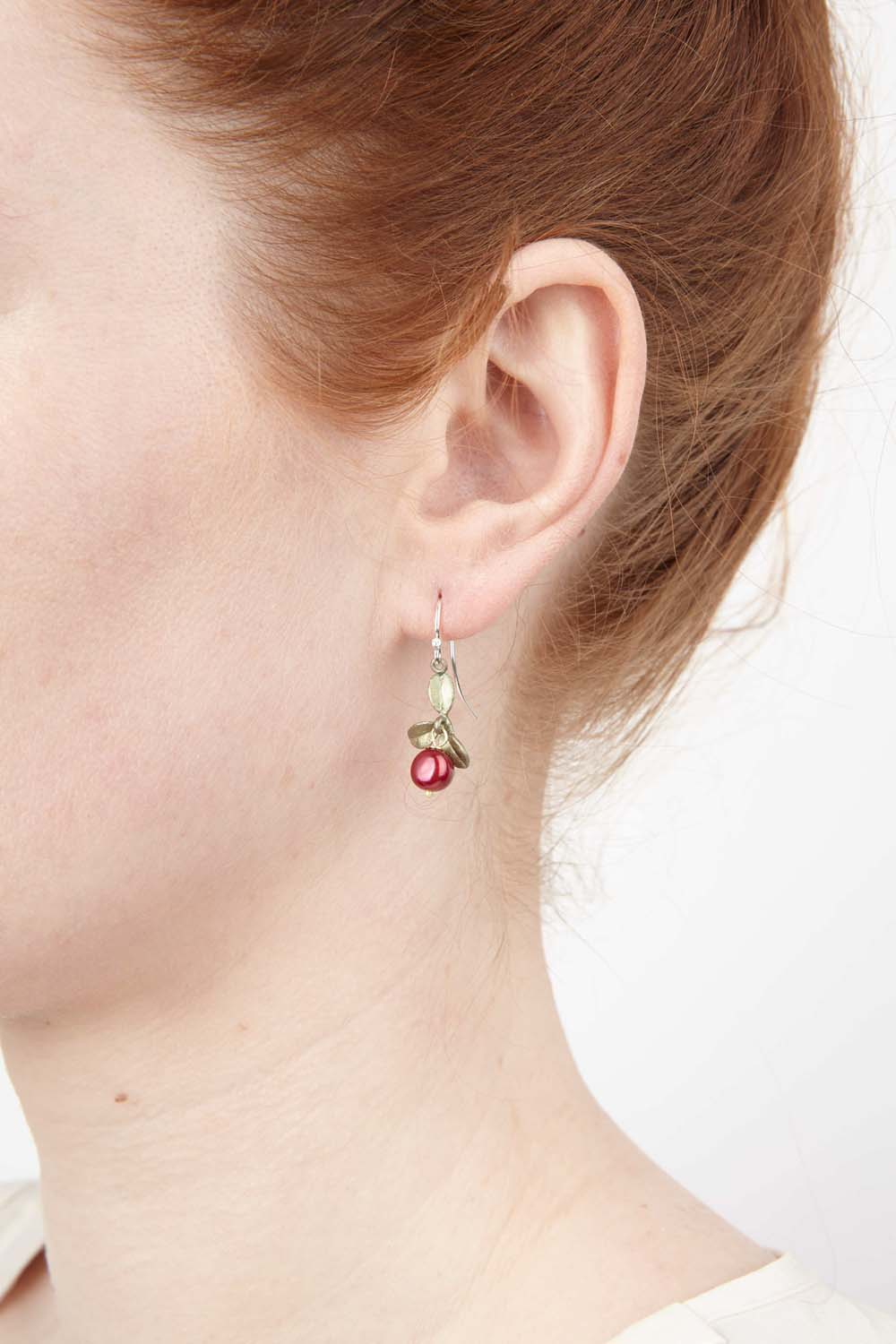 Cranberry Earrings - Wire Drop