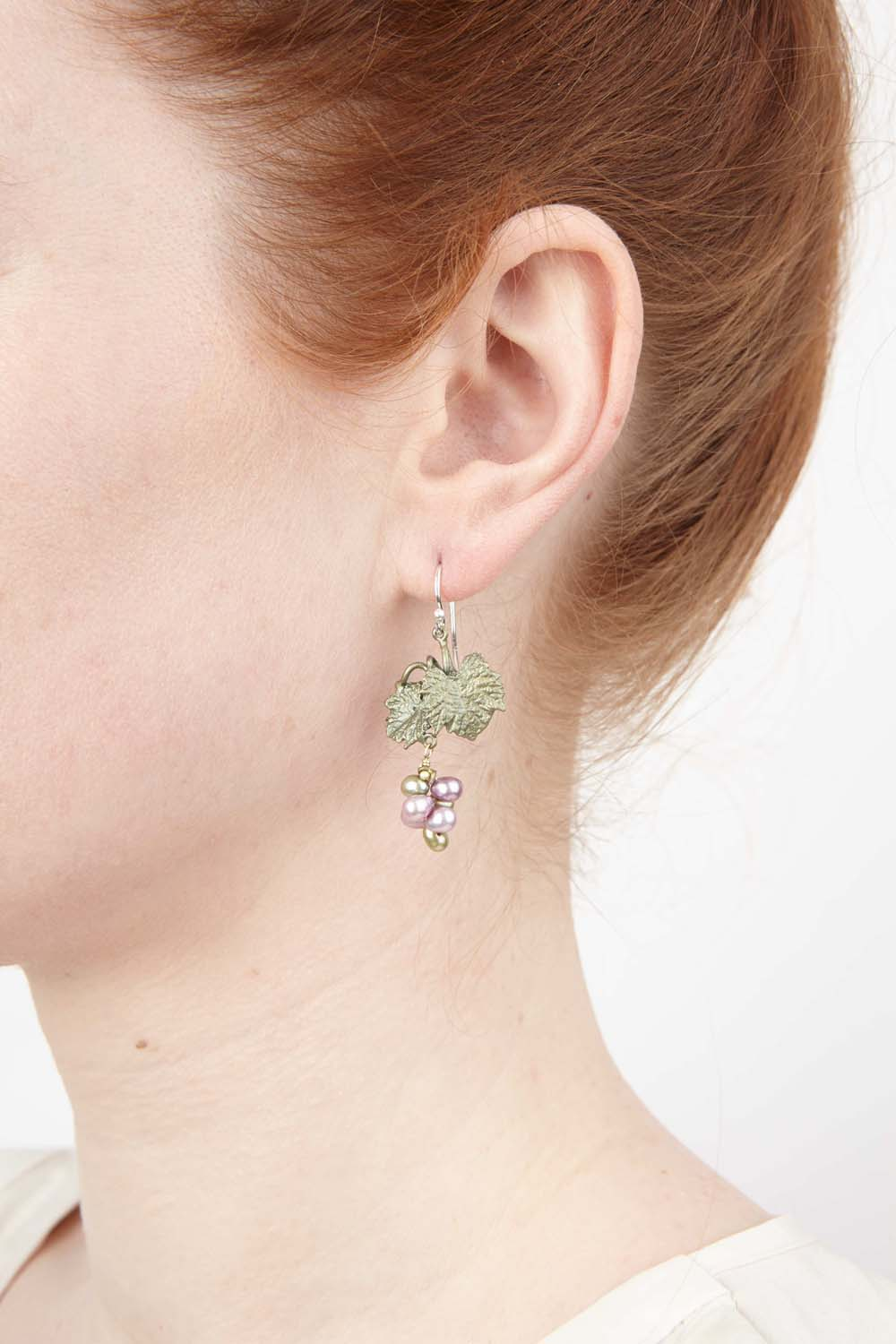 Grape Vines Earrings - Wire Drop