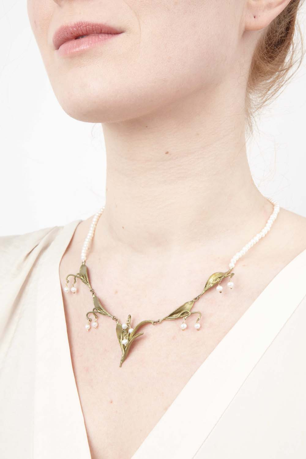 Lily of the Valley Necklace - Pearls