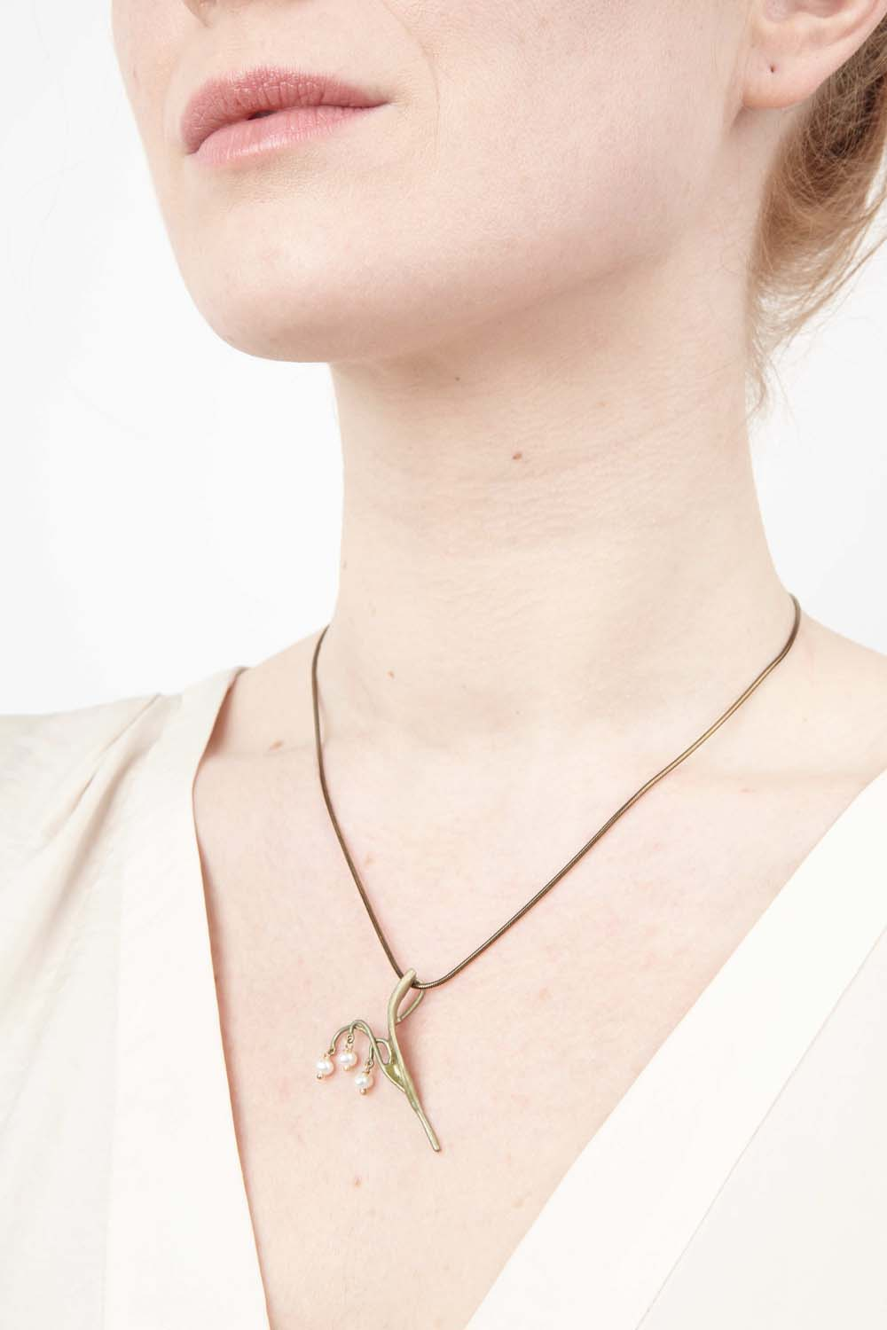 Lily of the Valley Pendant - Petite Flower