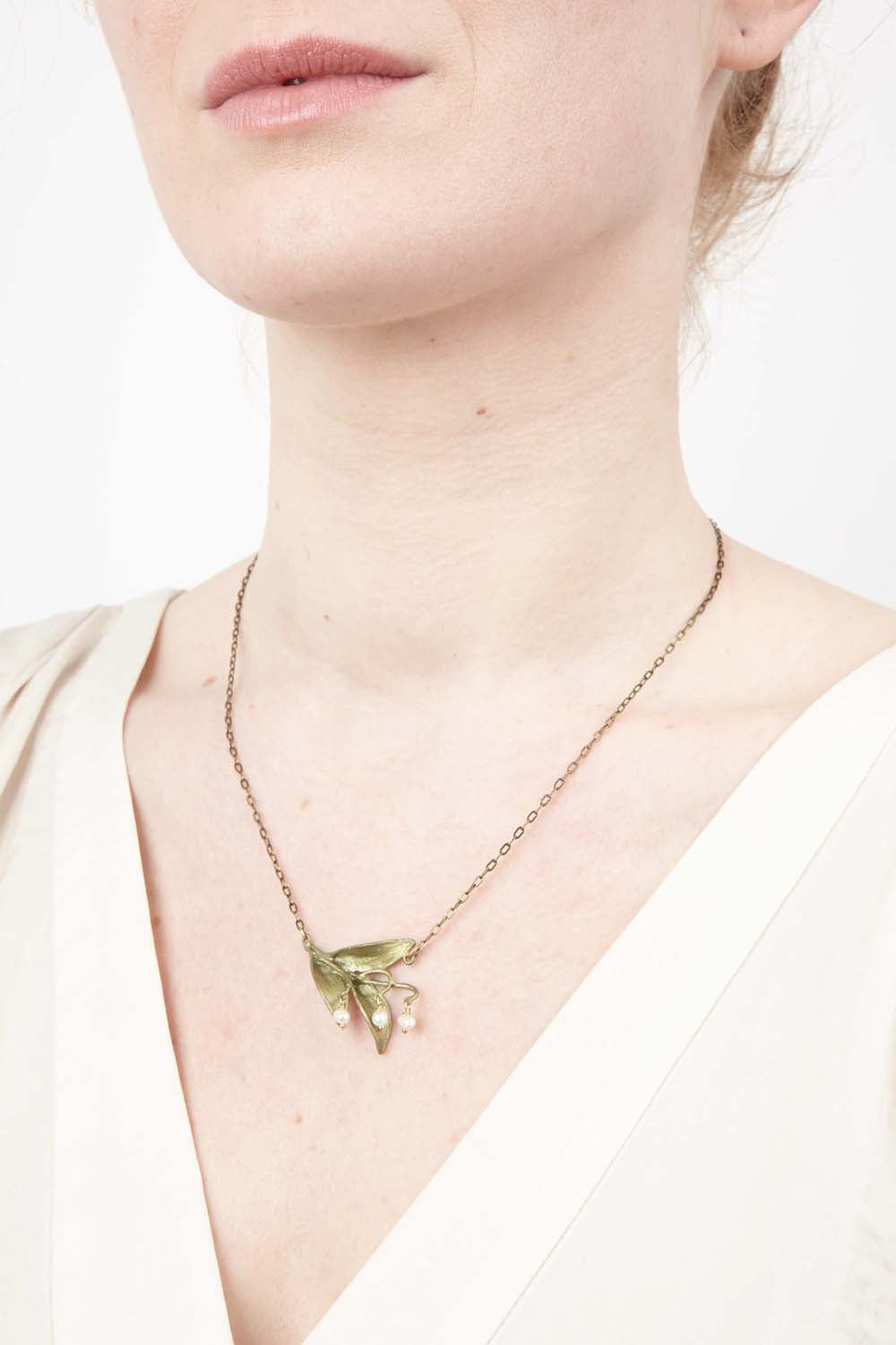 Lily of the Valley Pendant - Triple Leaf