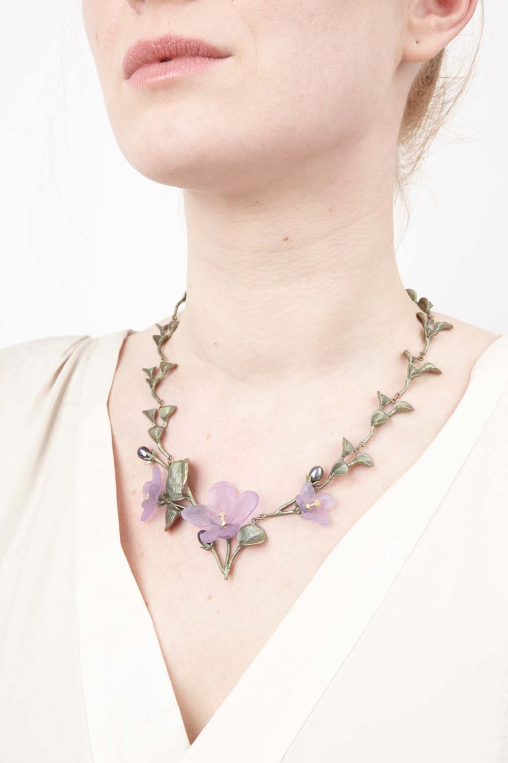 African Violet Necklace - Contour