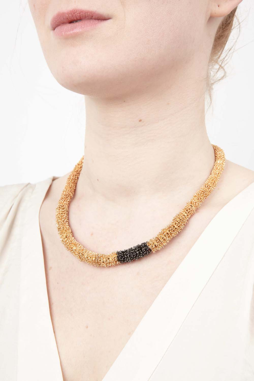 Gone To Seed Necklace - Two Tone Contour