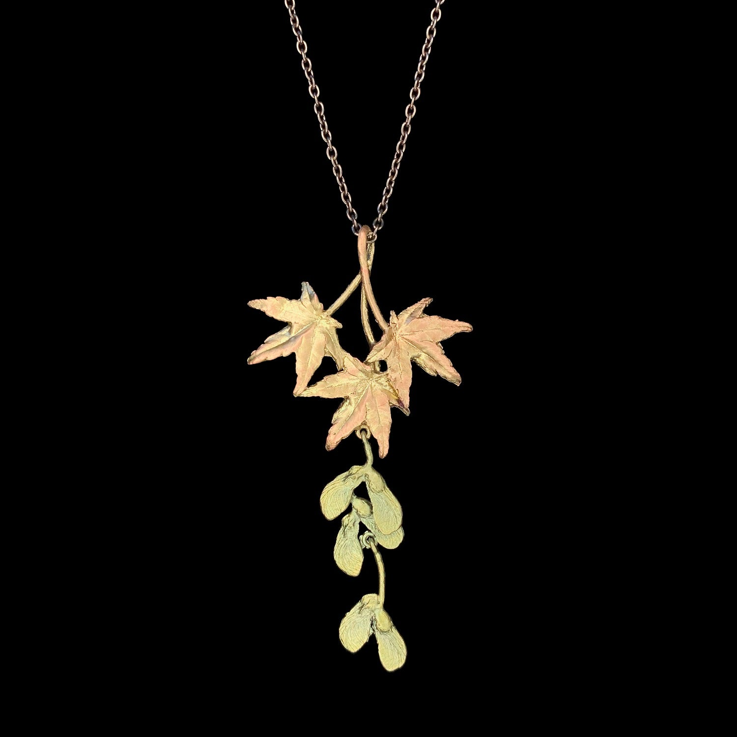 Japanese Maple Pendant - Leaf Drop